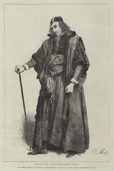 Mr Henry Irving as Shylock, in The Merchant of Venice, at the Lyceum Theatre-Frederick Barnard-Giclee Print