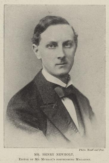 Mr Henry Newbolt, Editor of Mr Murray's Forthcoming Magazine--Giclee Print