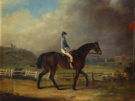 Mr. Hindley's Brown Filly 'Rosina' by 'Romulus' Ridden by the Owner on Lincoln Race Course-P. Ewbank-Giclee Print