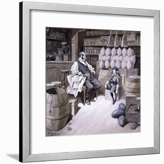 Mr. Hobbs-Reginald Bathurst Birch-Framed Giclee Print