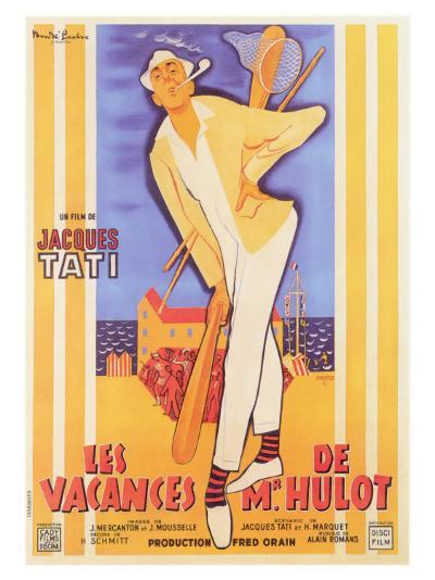 Mr. Hulot's Holiday, French Movie Poster, 1953--Art Print