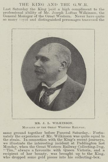 Mr J L Wilkinson, Manager of the Great Western Railway--Giclee Print