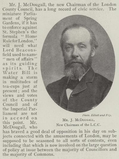 Mr J Mcdougall, New Chairman of the LCC--Giclee Print
