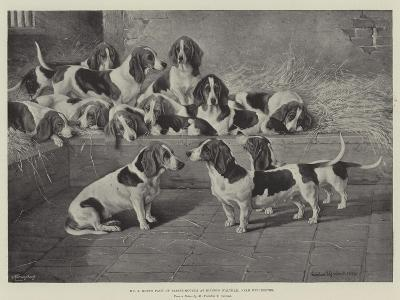Mr J Moss's Pack of Basset-Hounds at Bishops Waltham, Near Winchester-Valentine Thomas Garland-Giclee Print