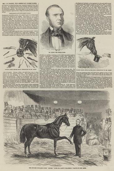 Mr J S Rarey, the American Horse-Tamer-John Leech-Giclee Print