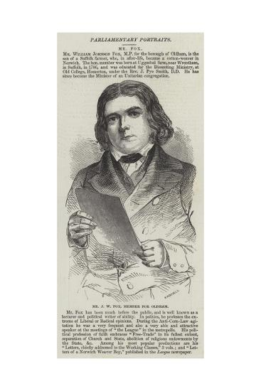 Mr J W Fox, Member for Oldham--Giclee Print