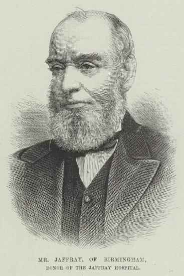 Mr Jaffray, of Birmingham, Donor of the Jaffray Hospital--Giclee Print