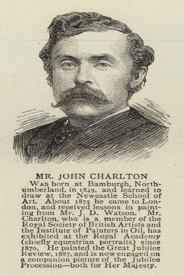 Mr John Charlton--Giclee Print