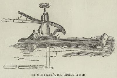 Mr John Fowler's, Junior, Draining Plough--Giclee Print