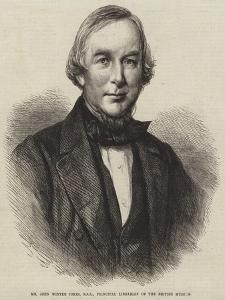 Mr John Winter Jones, Fsa, Principal Librarian of the British Museum