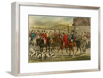 'Mr. Jorrocks introduces the Yorkshireman to the Surrey', 1838-Henry Thomas Alken-Framed Giclee Print