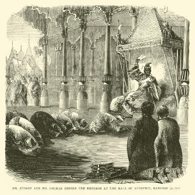 Mr Judson and Mr Colman before the Emperor at the Hall of Audience, Rangoon--Giclee Print