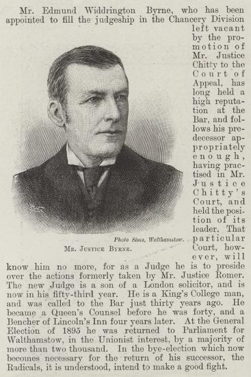 Mr Justice Byrne--Giclee Print