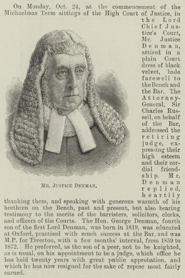 Mr Justice Denman--Giclee Print