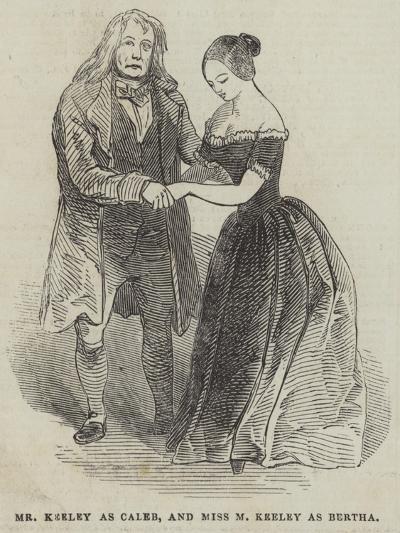 Mr Keeley as Caleb, and Miss M Keeley as Bertha--Giclee Print