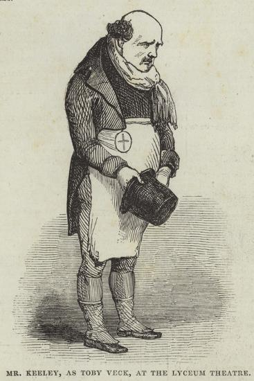 Mr Keeley, as Toby Veck, at the Lyceum Theatre--Giclee Print