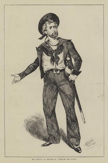 Mr Kendal as William in William and Susan--Giclee Print