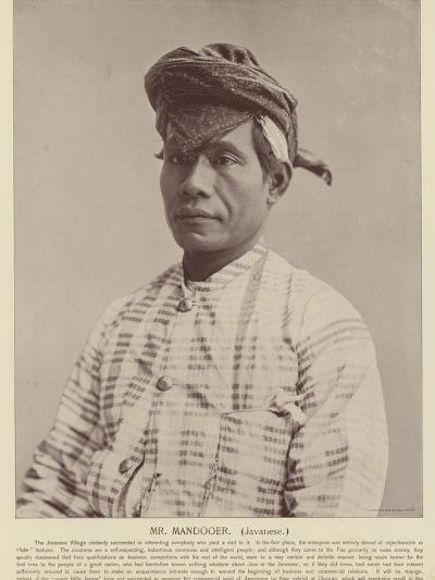 Mr Mandooer, Javanese--Photographic Print