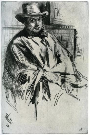 Mr Mann, 1860-James Abbott McNeill Whistler-Giclee Print