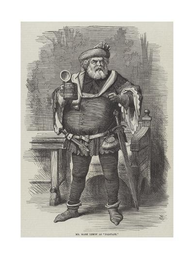 Mr Mark Lemon as Falstaff--Giclee Print