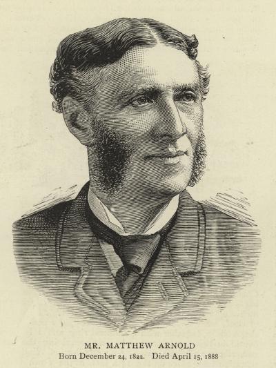 Mr Matthew Arnold--Giclee Print