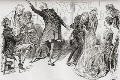 Mr. Micawber Achieves the Downfall of Heep. The Triumphant Flourish with Which Mr. Micawber Deliver--Giclee Print