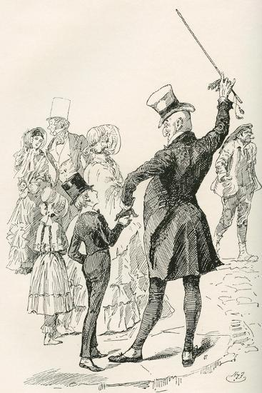 Mr. Micawber Takes David Home.  We Walked to Our House Together--Giclee Print