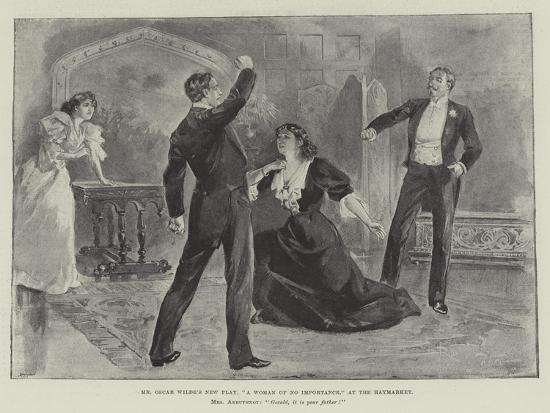 Mr Oscar Wilde's New Play, A Woman of No Importance, at the Haymarket--Giclee Print