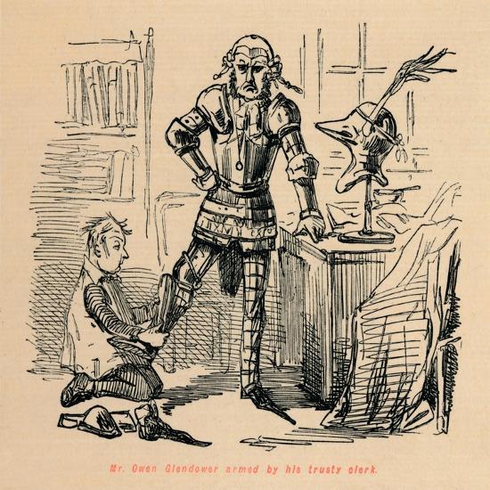 'Mr. Owen Glendower armed by his trusty clerk', c1860, (c1860)-John Leech-Giclee Print