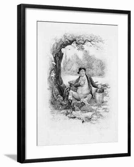 Mr Pickwick, from Charles Dickens: A Gossip About His Life, by Thomas Archer, Published c.1894-Frederick Barnard-Framed Giclee Print