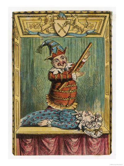 Mr. Punch Beats Judy--Giclee Print