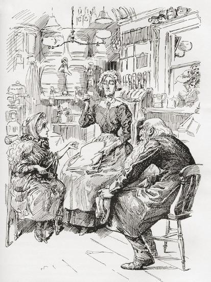 Mr. Riah and Miss Wren at the Six Jolly Fellowship Porters. Stop a Bit--Giclee Print