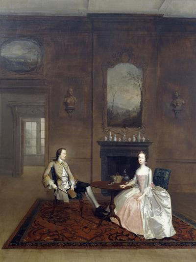 Mr Richard Bull and His Wife, Circa 1750, Painting by Arthur Devis (1712-1787)--Giclee Print