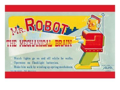 Mr. Robot: the Mechanical Brain--Art Print