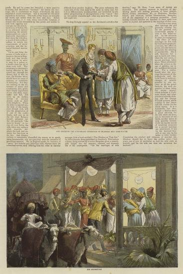Mr Row Bahawdur Ramchunder Gopaldas's Wedding Party--Giclee Print