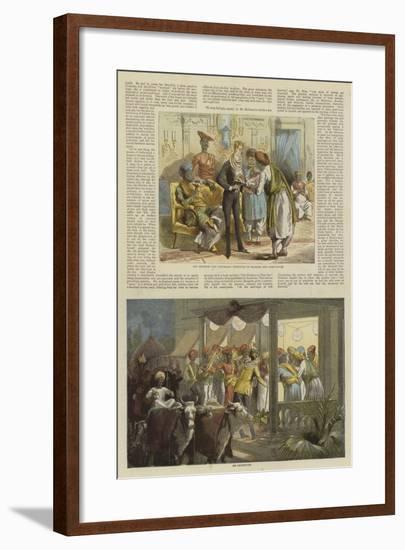 Mr Row Bahawdur Ramchunder Gopaldas's Wedding Party--Framed Giclee Print