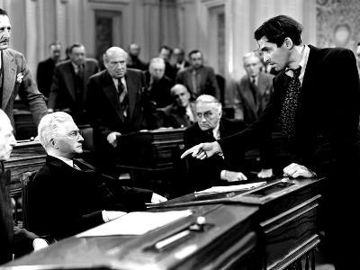 Mr. Smith Goes To Washington, Claude Rains, James Stewart, 1939, Senate Debate--Photo
