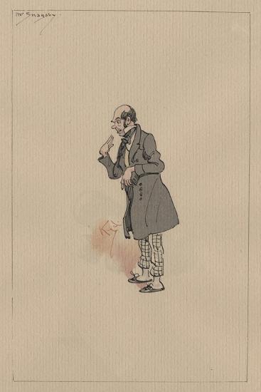 Mr Snagsby, C.1920s-Joseph Clayton Clarke-Giclee Print