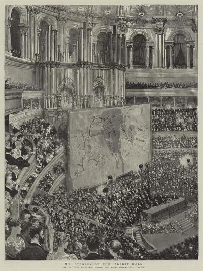 Mr Stanley at the Albert Hall--Giclee Print