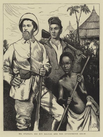 Mr Stanley, His Boy Kalulu, and the Interpreter Selim-Sir James Dromgole Linton-Giclee Print
