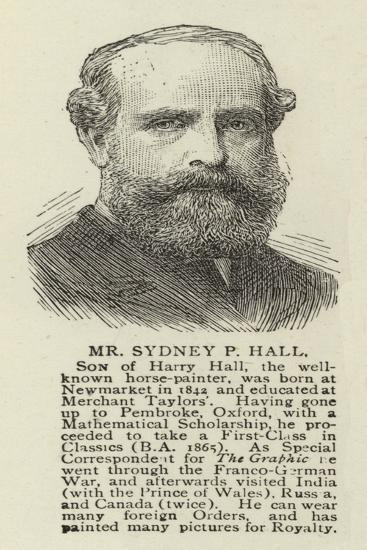 Mr Sydney P Hall--Giclee Print