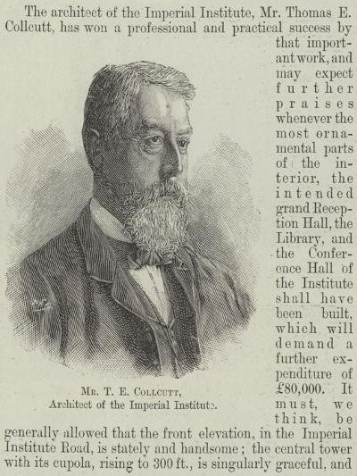 Mr T E Collcutt, Architect of the Imperial Institute--Giclee Print