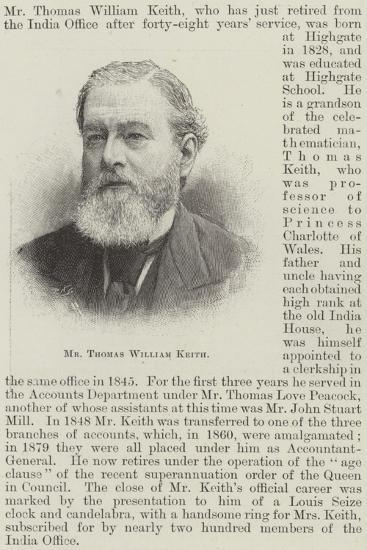 Mr Thomas William Keith--Giclee Print