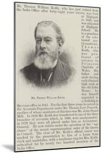 Mr Thomas William Keith