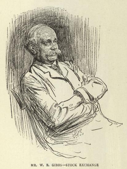 Mr W B Gibbs, Stock Exchange--Giclee Print