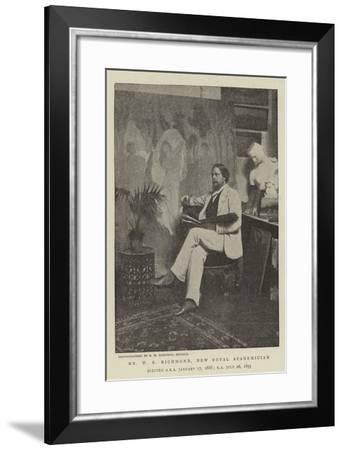 Mr W B Richmond, New Royal Academician--Framed Giclee Print