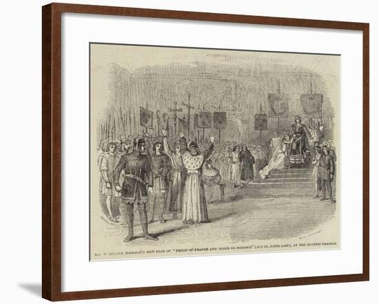 Mr Westland Marston's New Play of Philip of France and Marie De Meranie (Act III Scene Last)--Framed Giclee Print