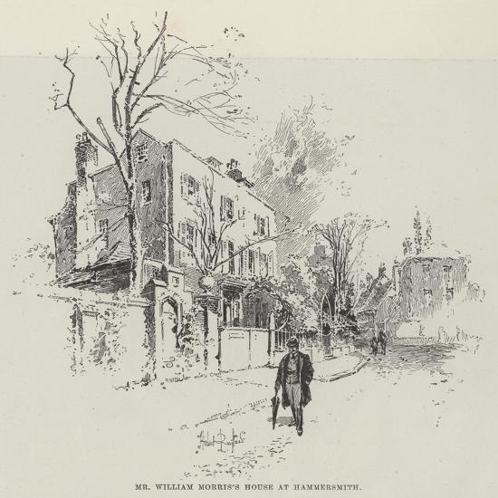 Mr William Morris's House at Hammersmith-Herbert Railton-Giclee Print