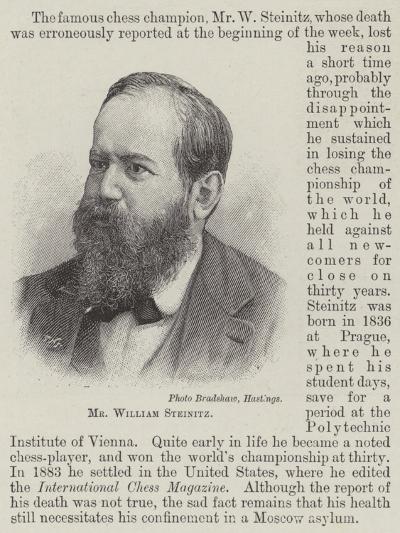 Mr William Steinitz--Giclee Print