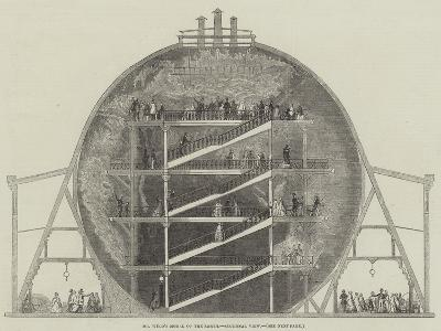 Mr Wyld's Model of the Earth, Sectional View--Giclee Print